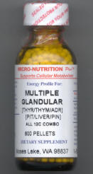 Click for details about Multiple Glandular Support with Liver 12C 1 oz pellets