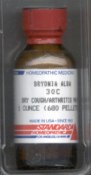 Click for details about Bryonia            30C  1 oz bottle with 680 pellets