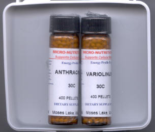 Click for details about Smallpox and Anthrax  Remedy Kit 30C on SALE