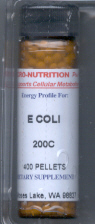 Click for details about E Coli 200C 400 pellets
