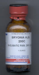 Click for details about Bryonia    200C 1 oz bottle with 680 pellets