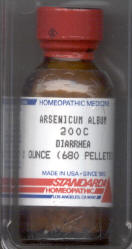 Click for details about Arsenicum Album  200C economy 1 oz with 680 pellets