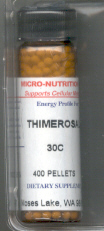 Click for details about Thimerosal 30C 400 pellets
