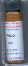 Click for details about Polio Poliomyelitis 200C 400 pellets