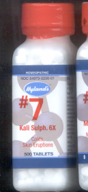 Click for details about #7 Kali Sulphur - Potassium  6X 1000 tablets 18% SALE!