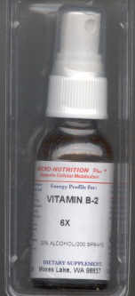 Click for details about Vitamin B 2 homeopathy potency 6X 1 oz spray