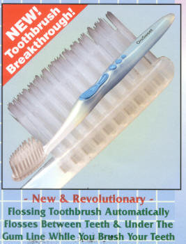 Click for details about Flossing Toothbrush  with dual action bristles