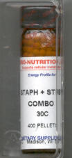 Click for details about Staph and Strep Combo 30C 400 pellets