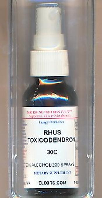 Click for details about Rhus Tox 30C economy 1 fluid ounce spray top