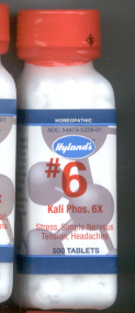 Click for details about Kali Phos #6 Potassium Phosphate 6X  500 tabs 10% SALE